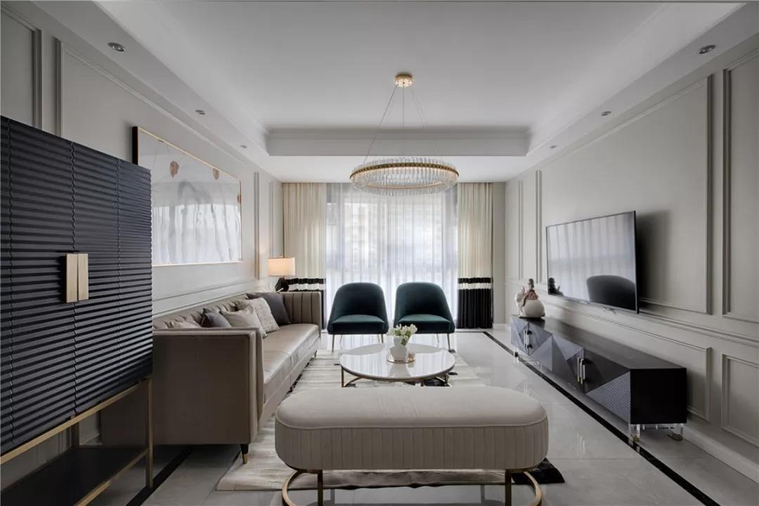 四居室后现代风格室内设计图