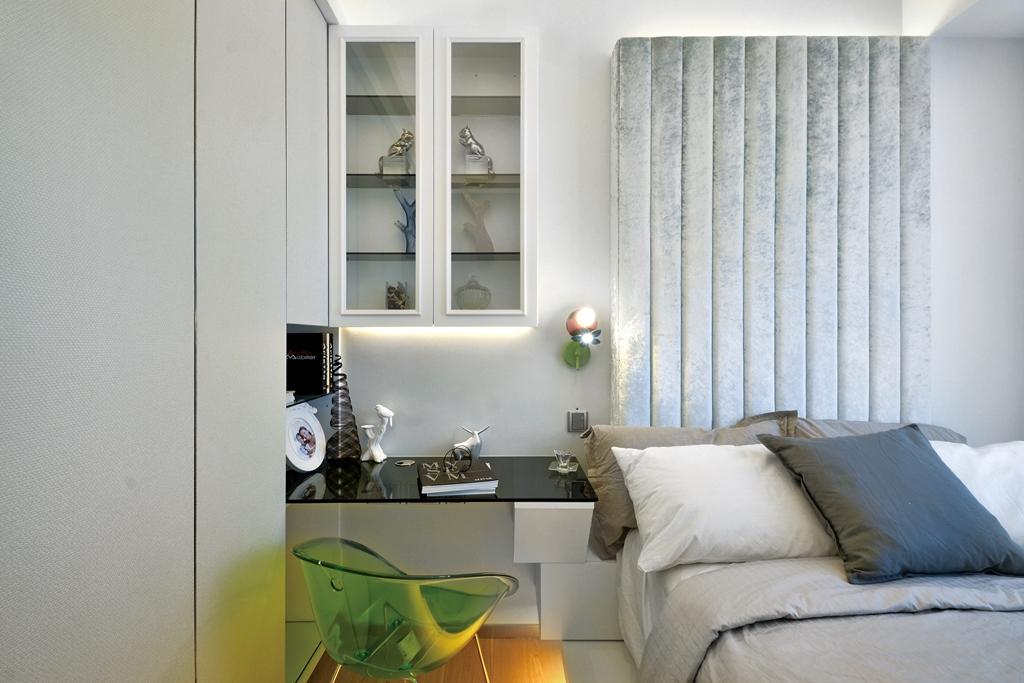 四居室卧室床头柜家装样板间