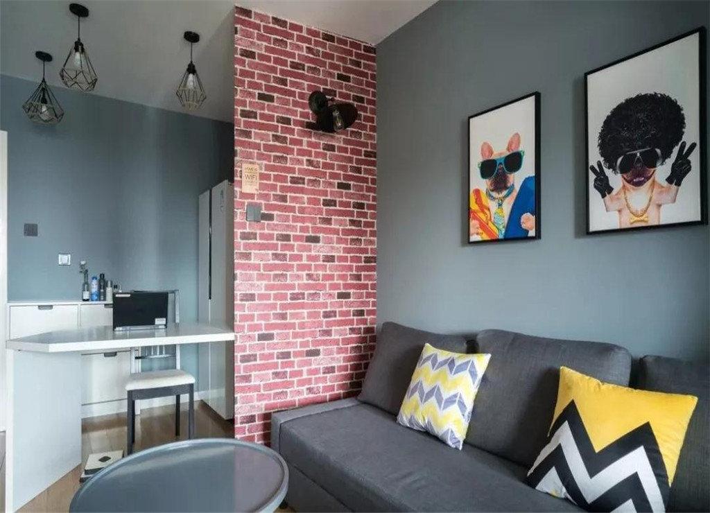 60平米现代简约风格室内设计图