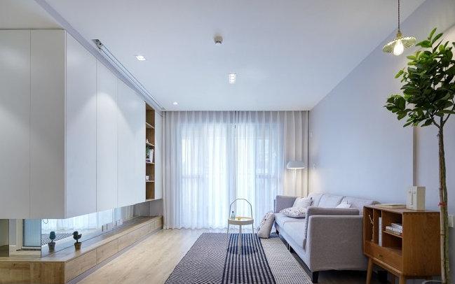 二居室现代简约风格家装图