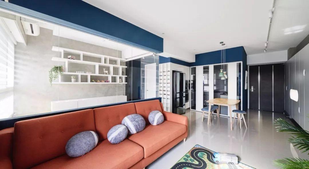 三居室混搭风格装潢设计图