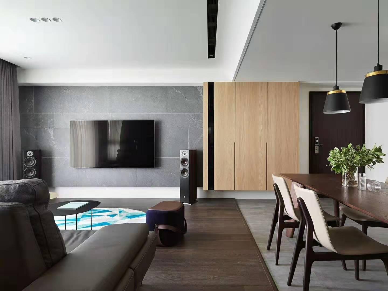三居室现代简约风格室内效果图