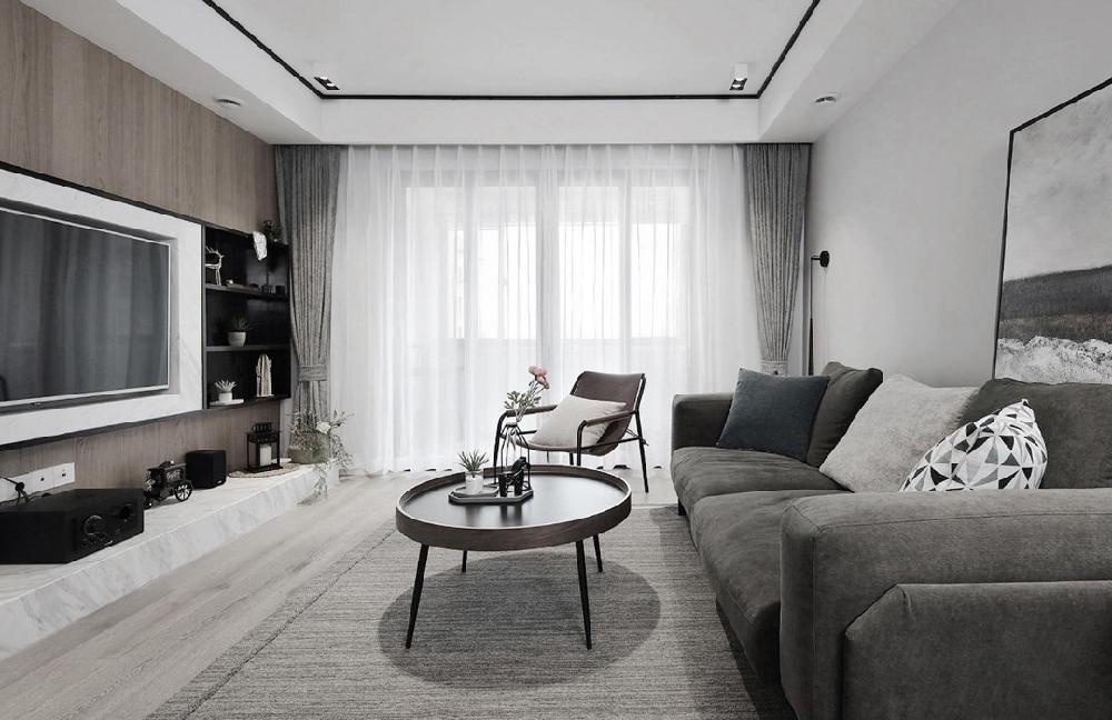 三居室现代简约风格装饰实例