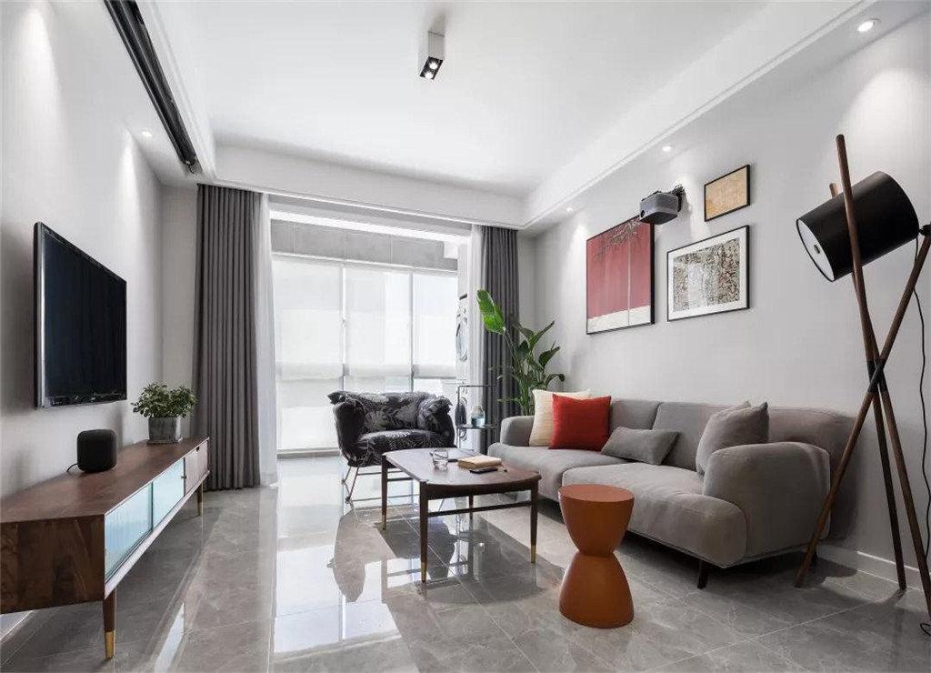 二居室现代简约风格家装设计图