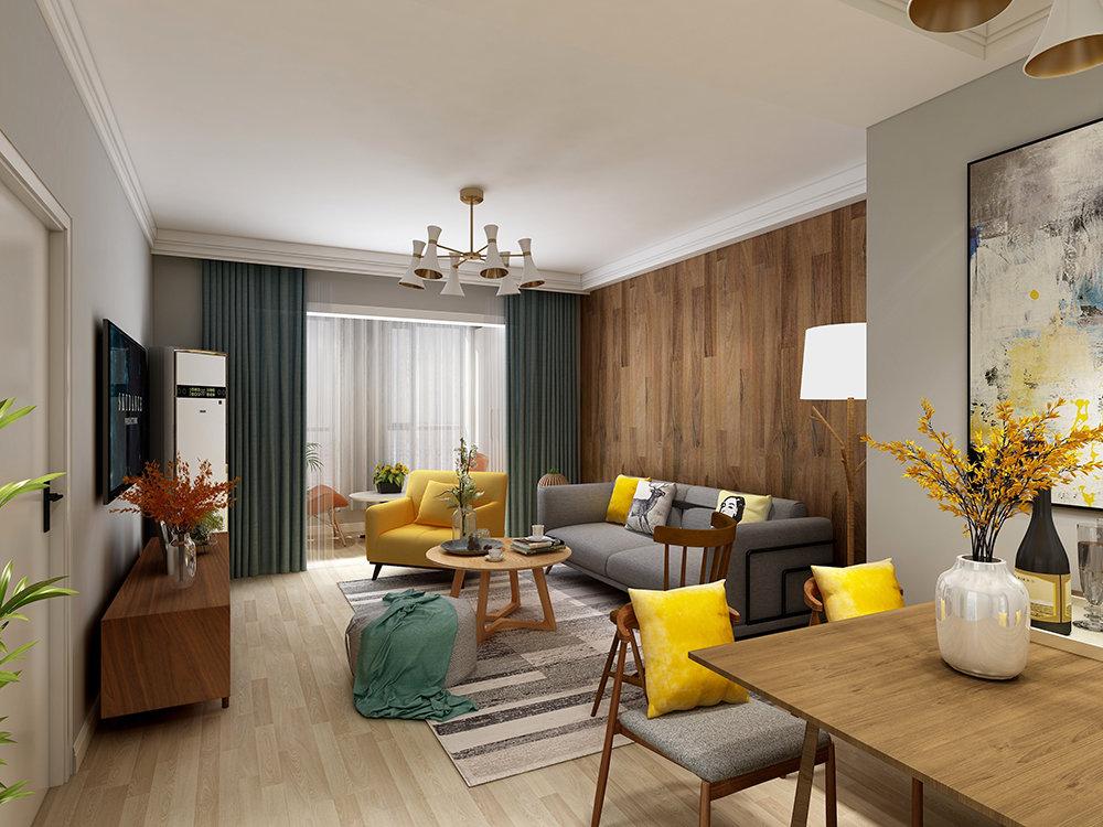 二居室现代简约风格装饰图片