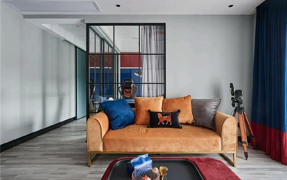 三居室混搭风格家装效果图