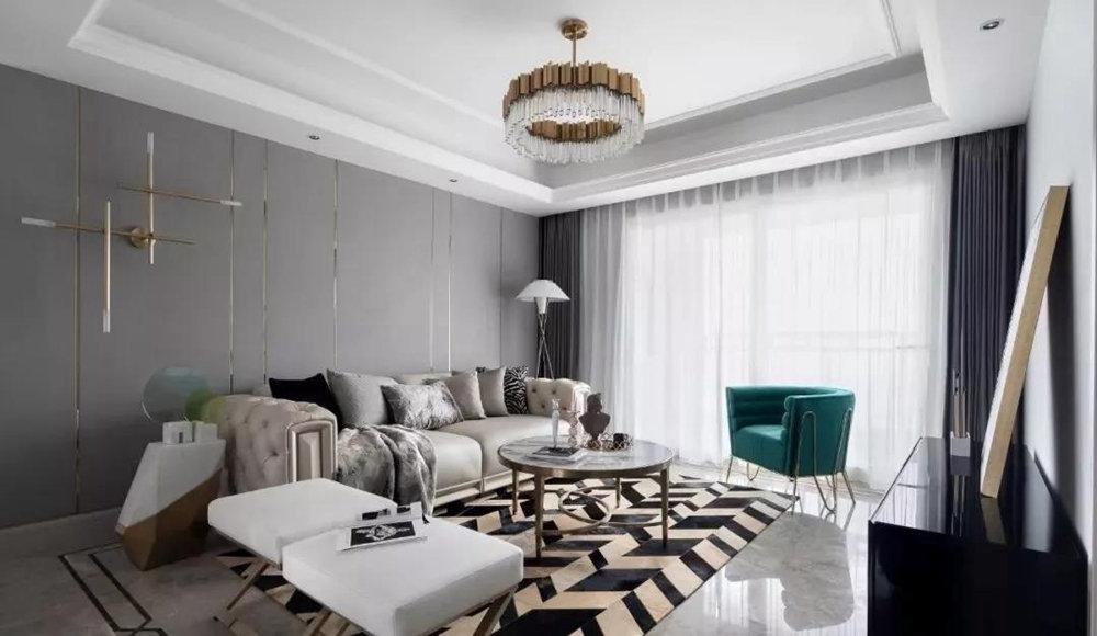 三居室美式风格家装设计