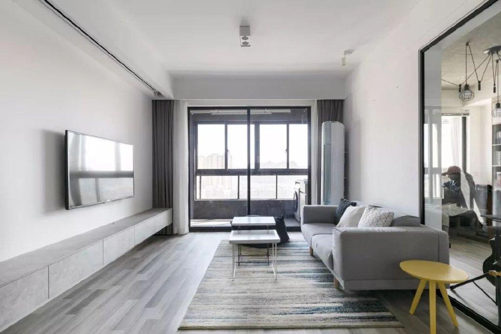 二居室现代简约风格装潢案例
