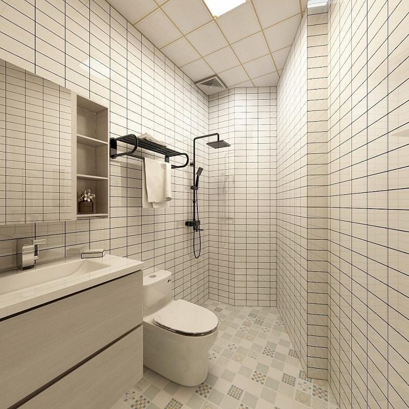 现代简约风格卫生间墙砖家装图