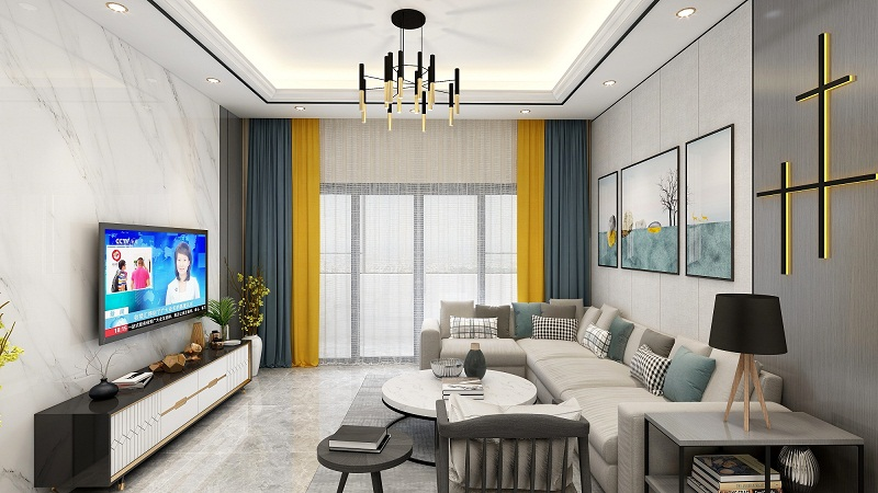 三居室97平米室内设计