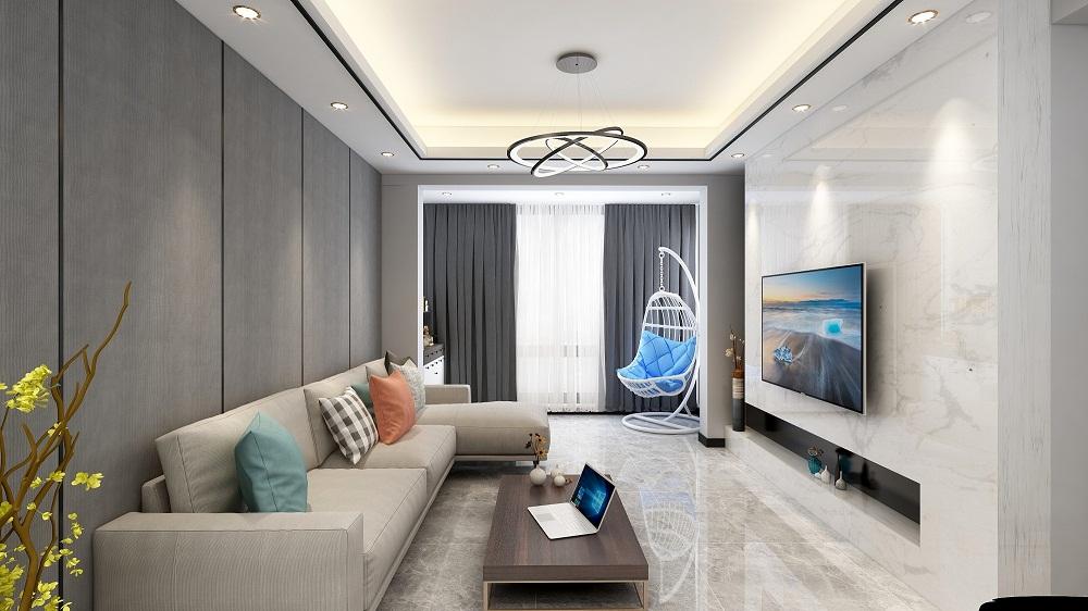 三居室106平米装修图片