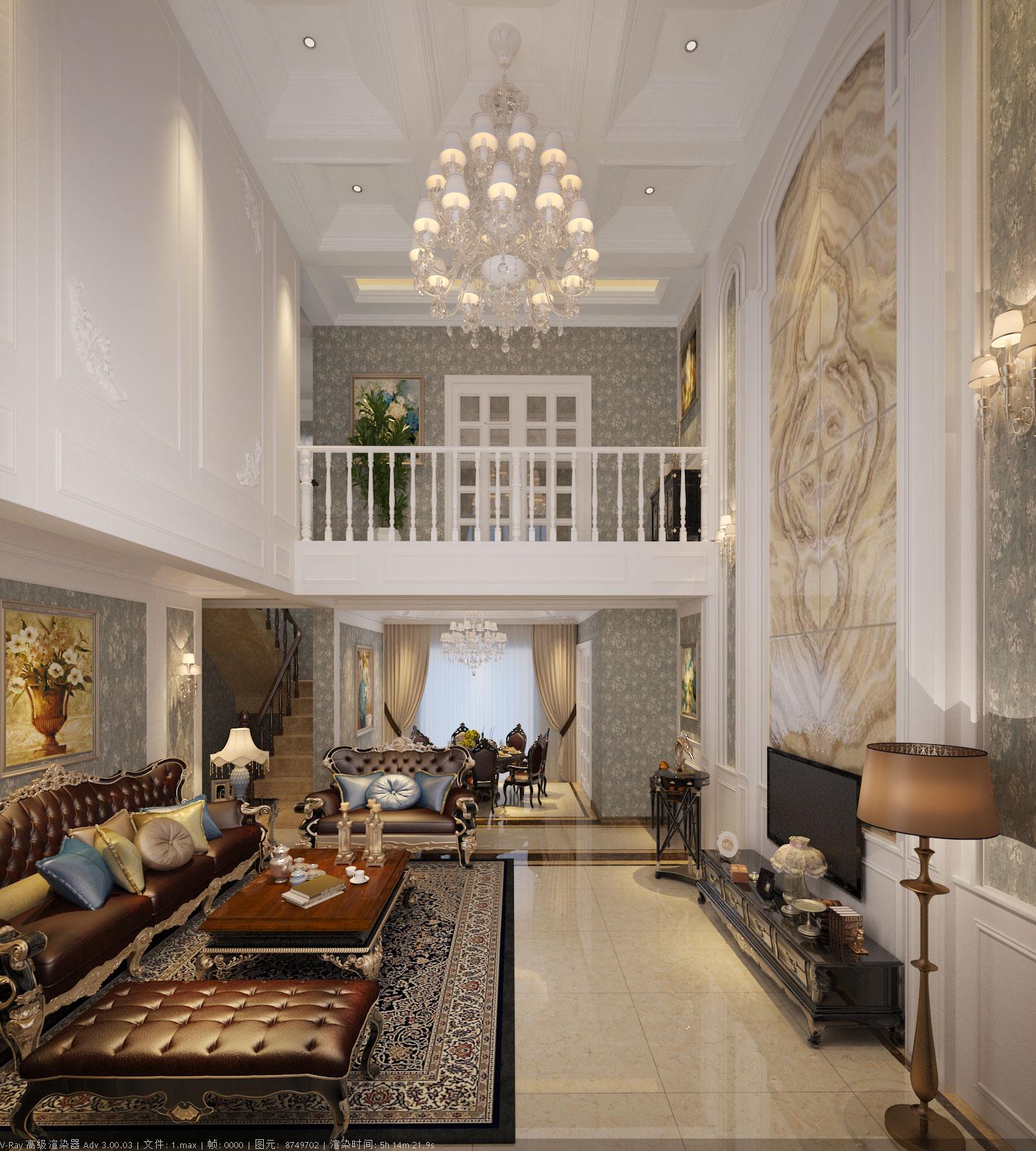 别墅340平米装饰设计