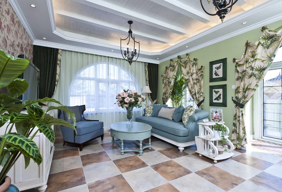 别墅地中海风格装饰效果图