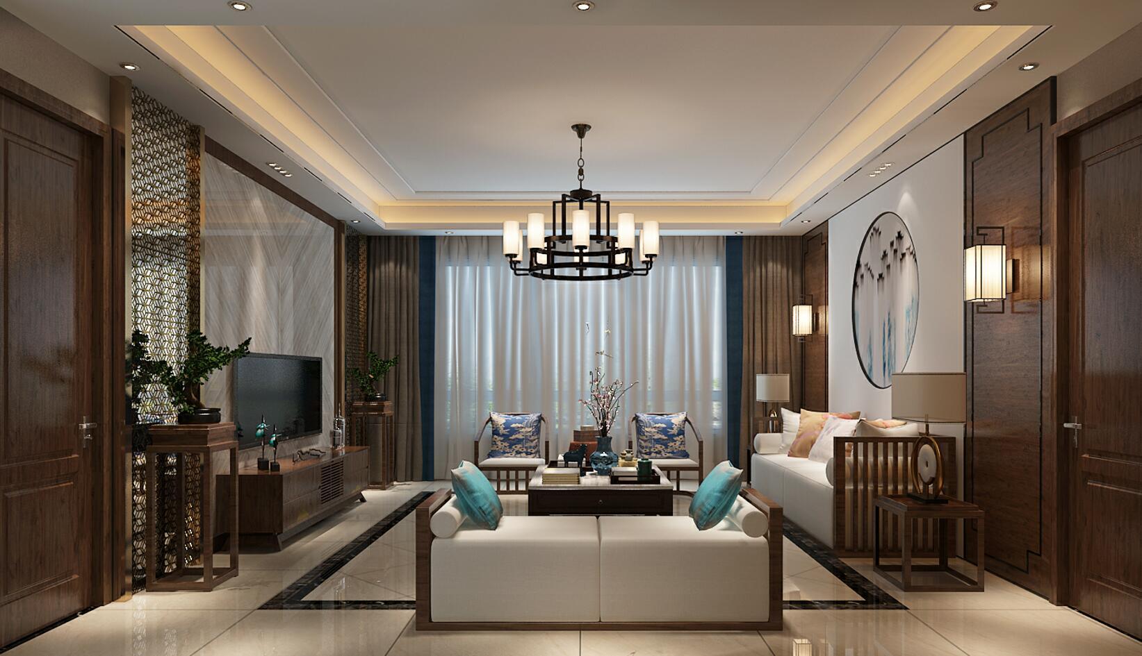 四居室新中式风格设计图
