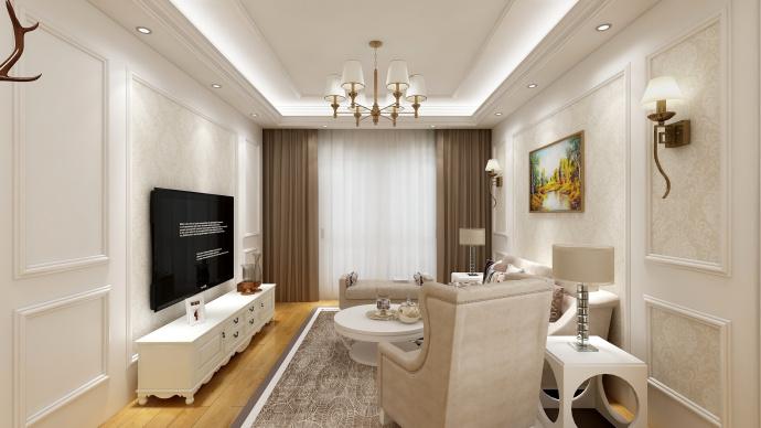 三居室105平米装潢图片
