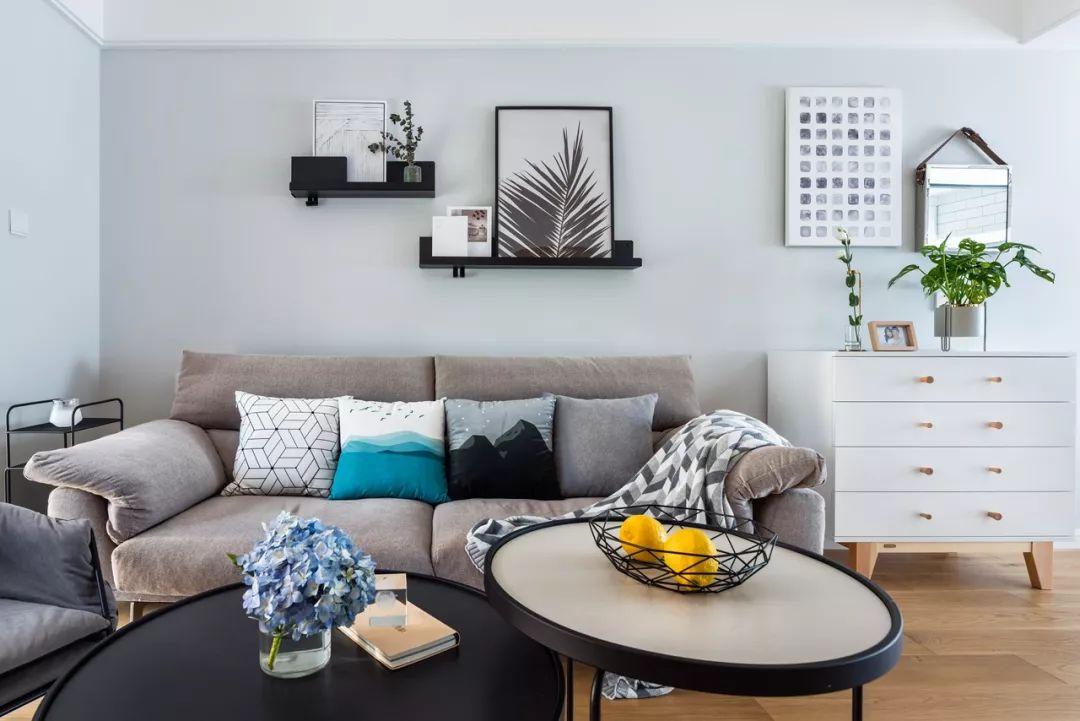 三居室现代简约风格装潢图片