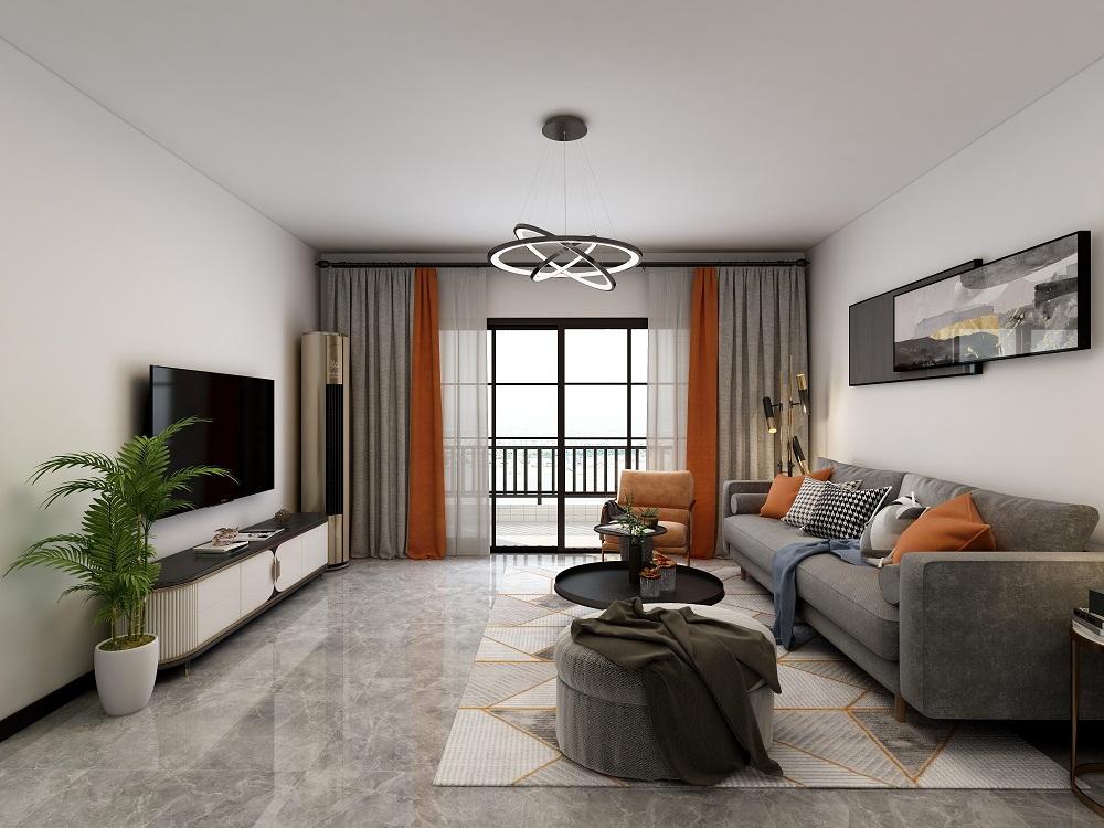 三居室现代简约风格装修效果图