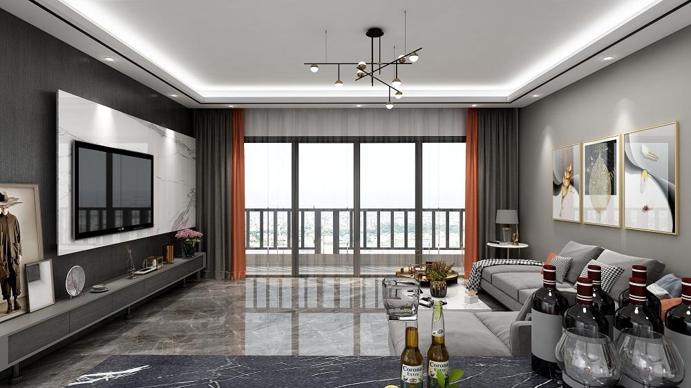 四居室现代简约风格案例图